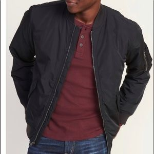 Old Navy Men's Black Bomber Jacket